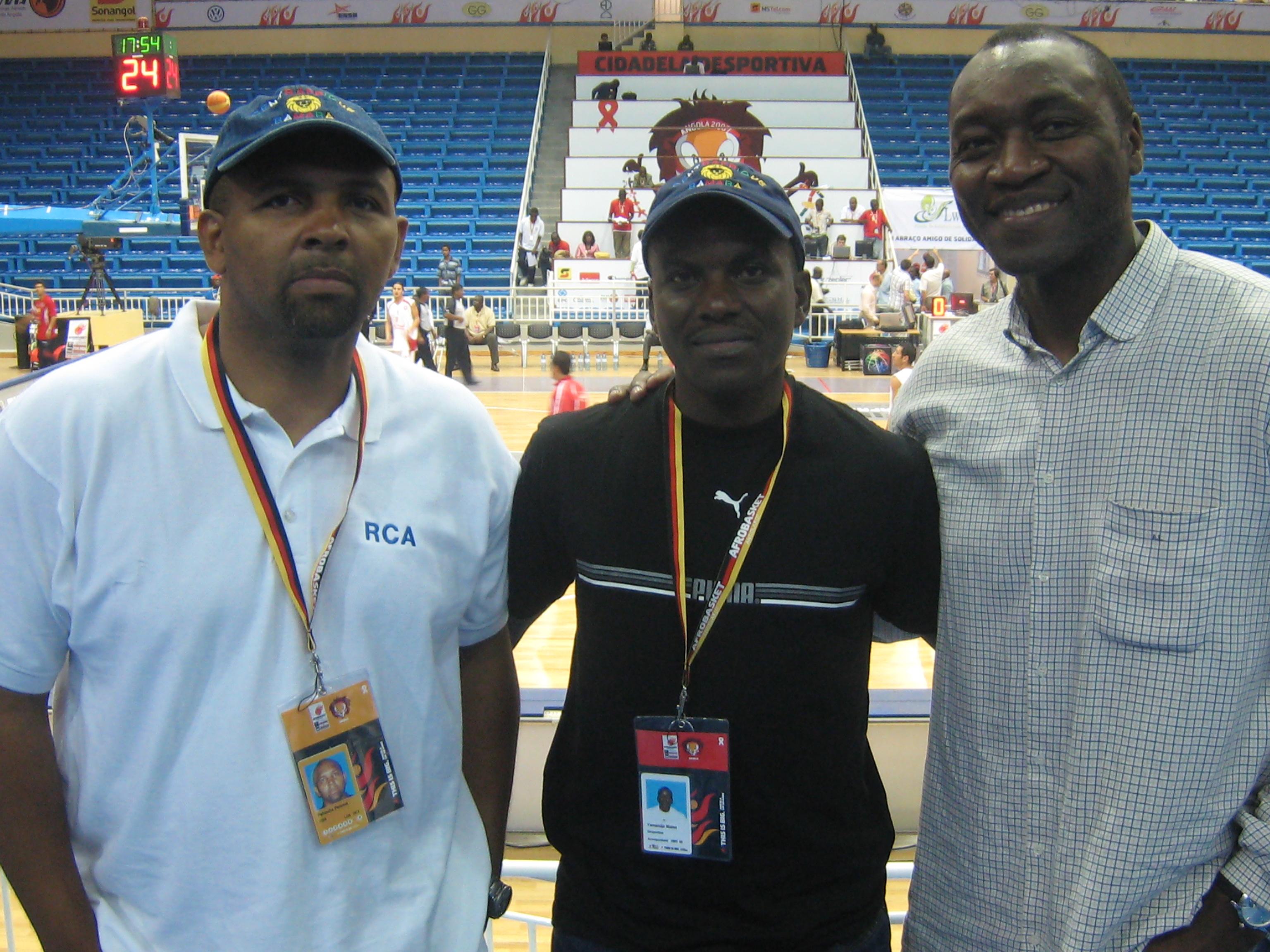 Eugène Pehoua DTN, Blaise Yamandja DTA Mazanga, Anicet Lavodrama recruteur de la NBA